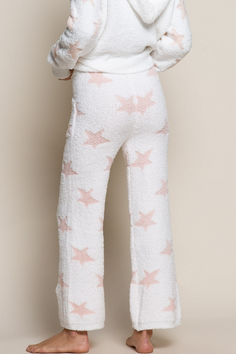 Starry Night Drawstring Pants - White