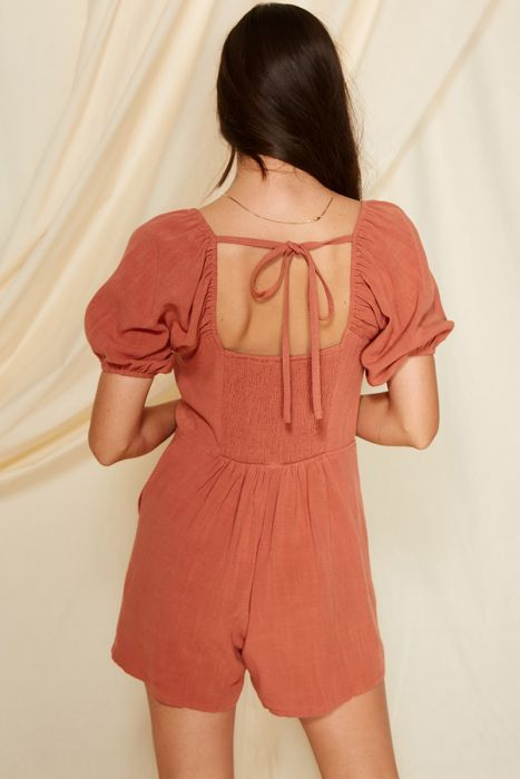 Wyeth Linen Pocketed Romper
