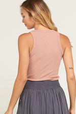 Katelyn Ribbed Racerback Tank - Ginger