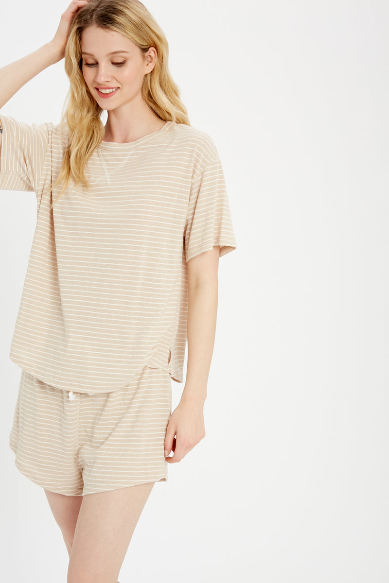 Elaine Striped Loungewear Set