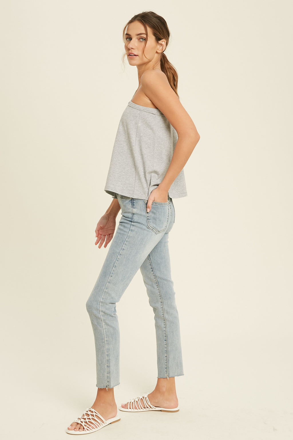 Brooke One Shoulder Tee
