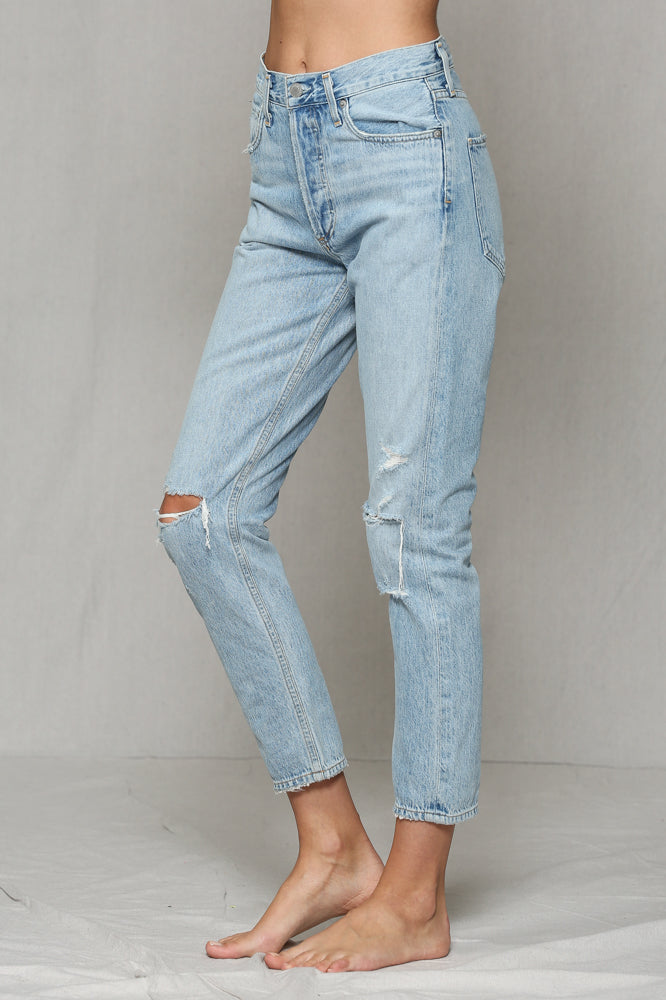 Kason High Rise Distressed Jeans