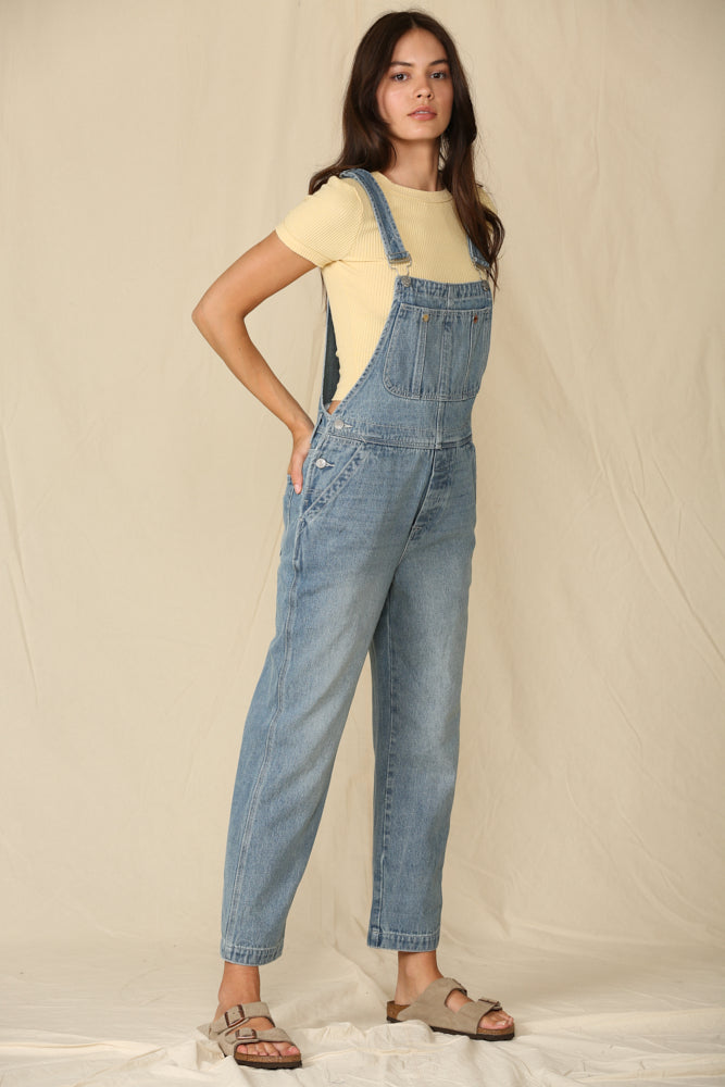 Living Easy Pocketed Denim Overalls