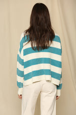 Idina Cotton Striped Sweater