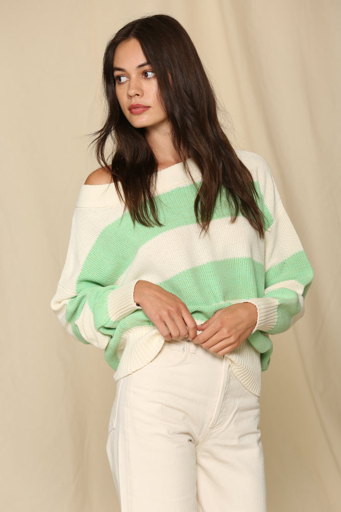Wake Up Call Striped Cotton Sweater