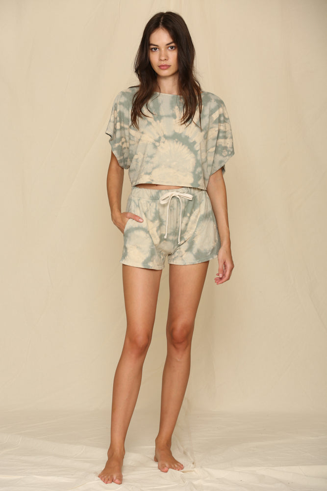 Riley Tie Dye Cotton Cropped Tee