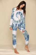 Thinking Out Loud Cotton Tie Dye Joggers
