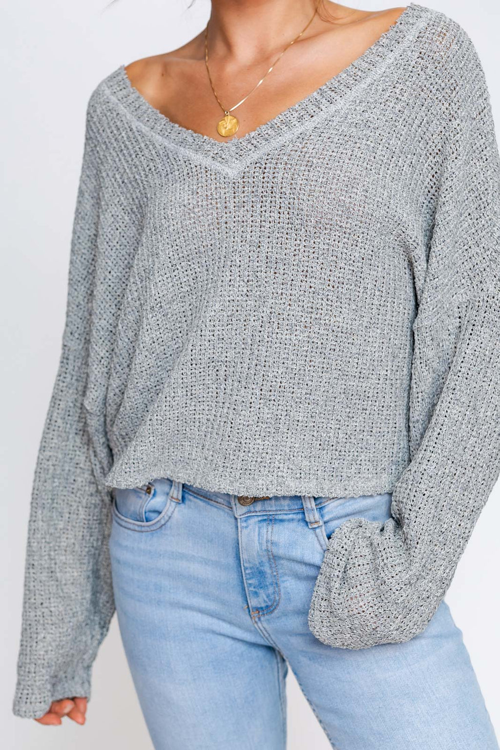 Breezeway V-Neck Knit Top