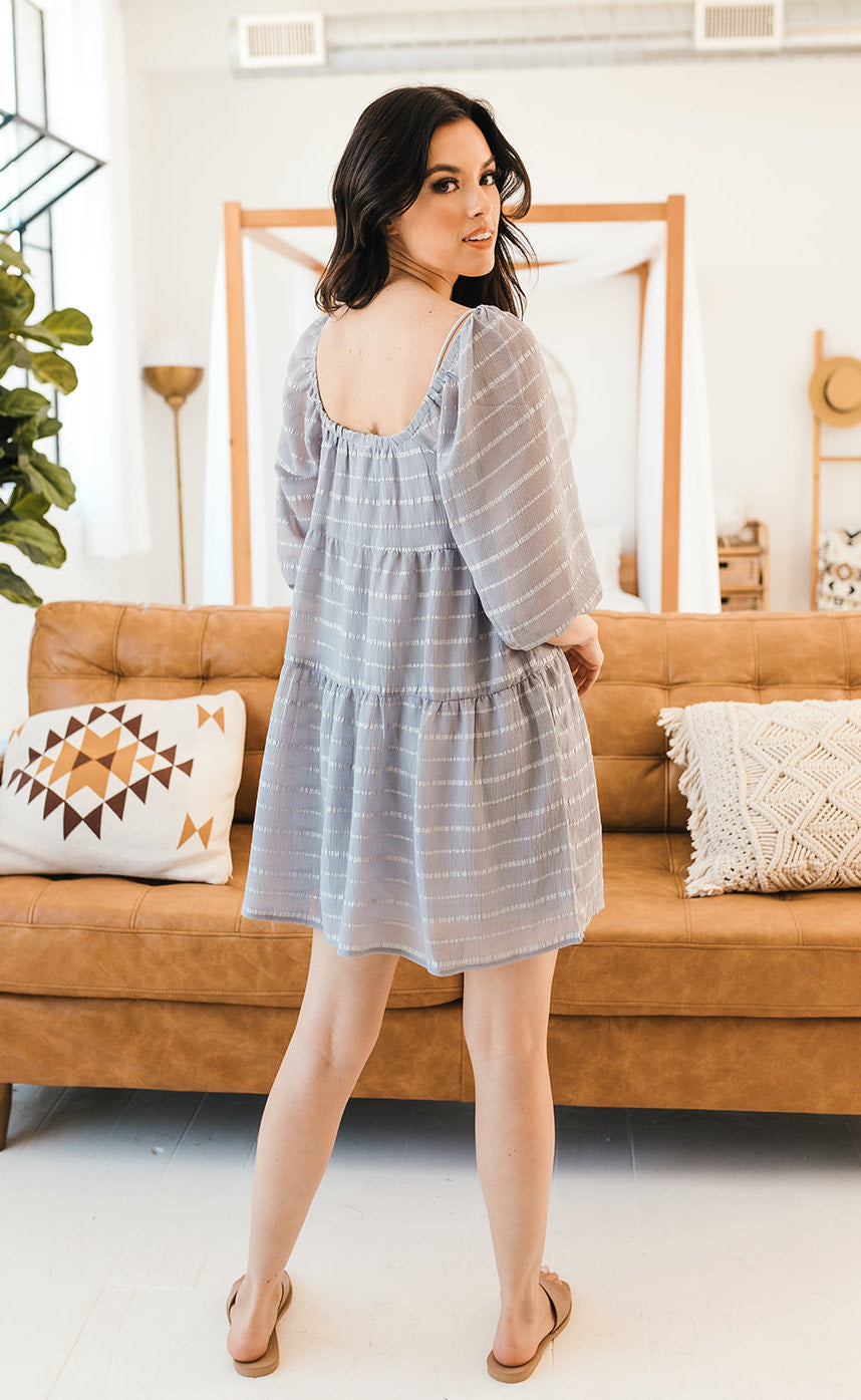 Elliot Striped Babydoll Dress