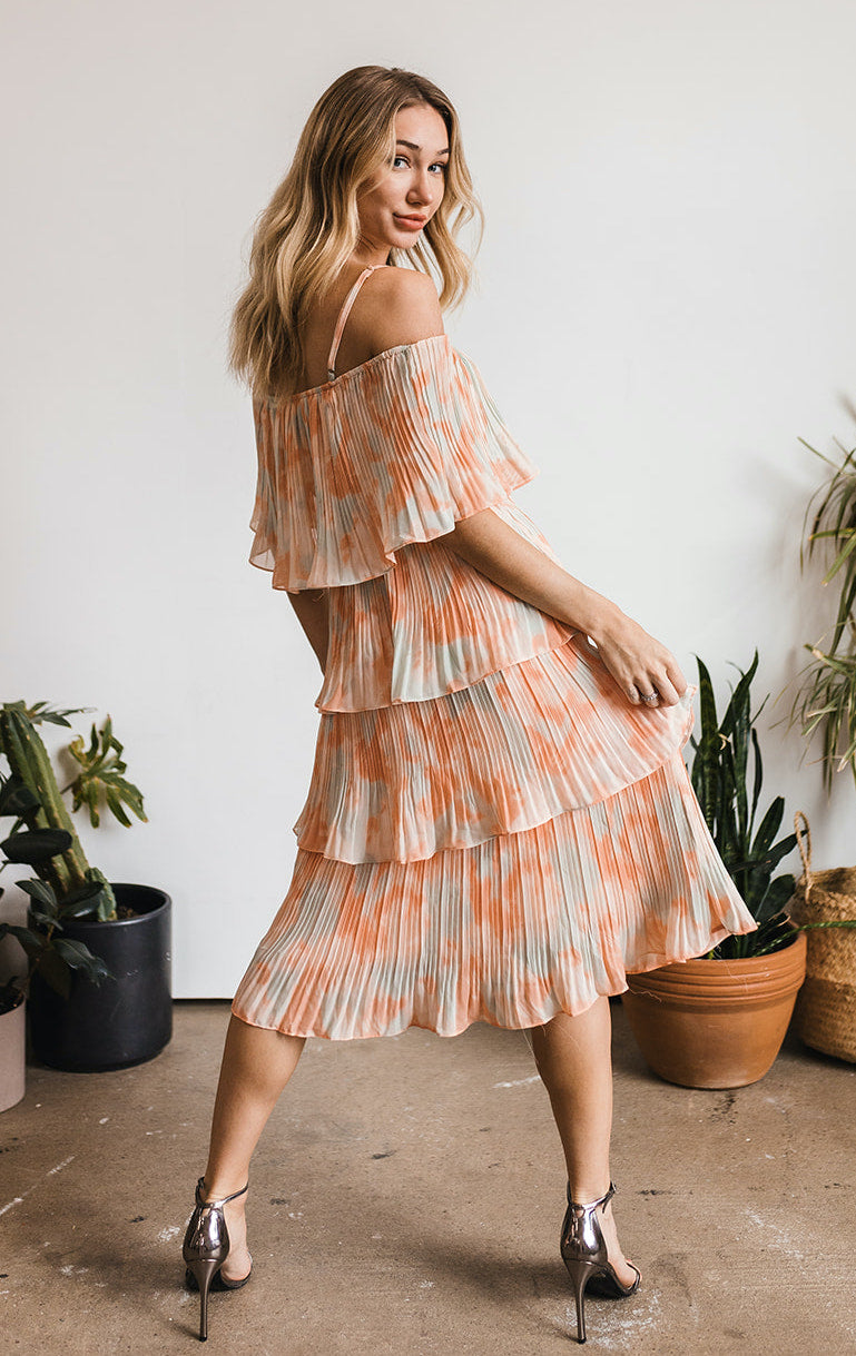 Hold Onto Love Tiered Midi Dress