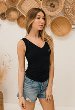 Seamless Reversible Tank - Black