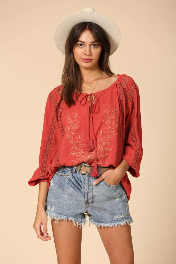 Spotlight Embroidered Top