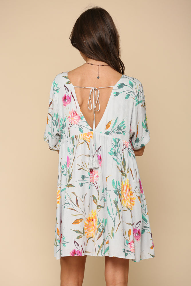 Luciana Floral Babydoll Dress