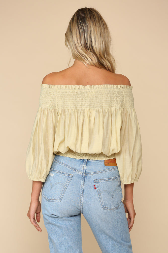 Fig Smocked Off The Shoulder Top