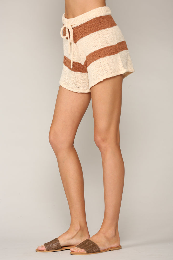 Jen Striped Knit Shorts