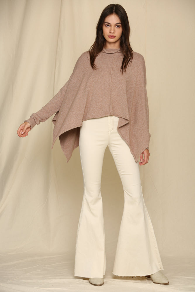 Denver Relaxed Cowl Neck Sweater Top