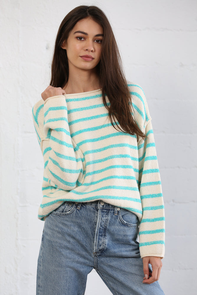 Asher Cotton Striped Knit Sweater
