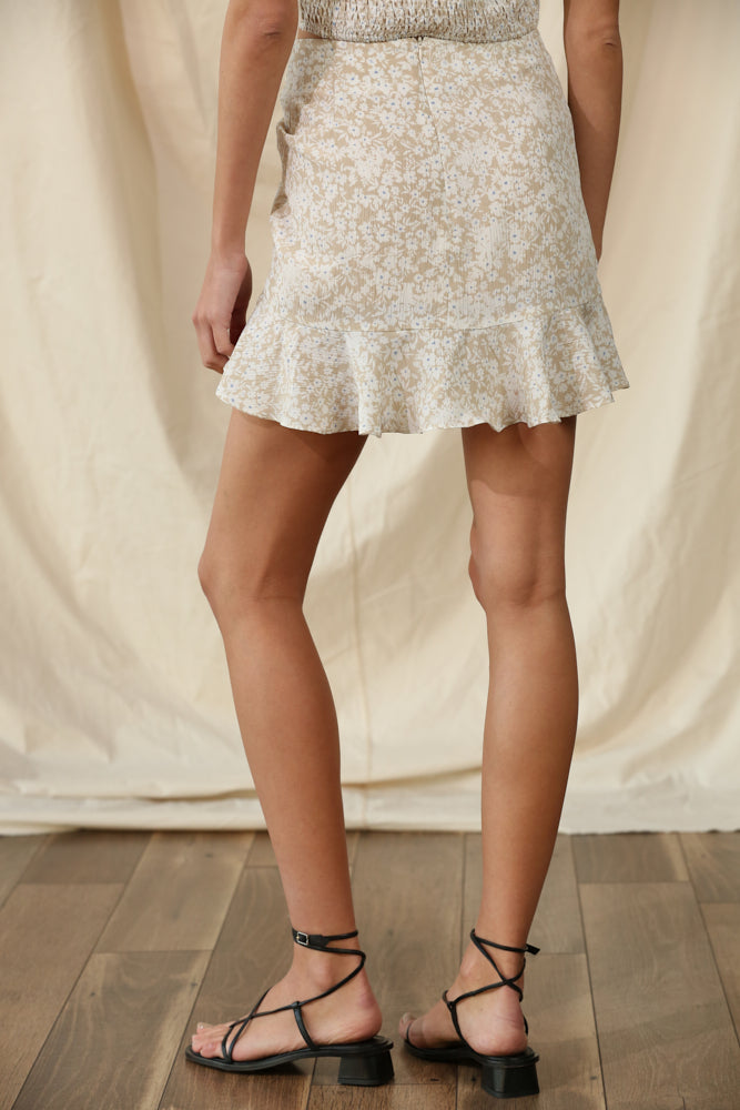 Ali Floral Ruched Mini Skirt