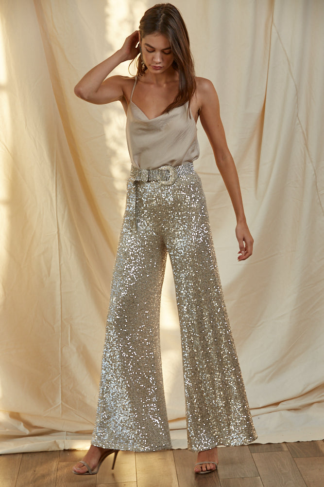 Bling Bling High Rise Sequin Pant