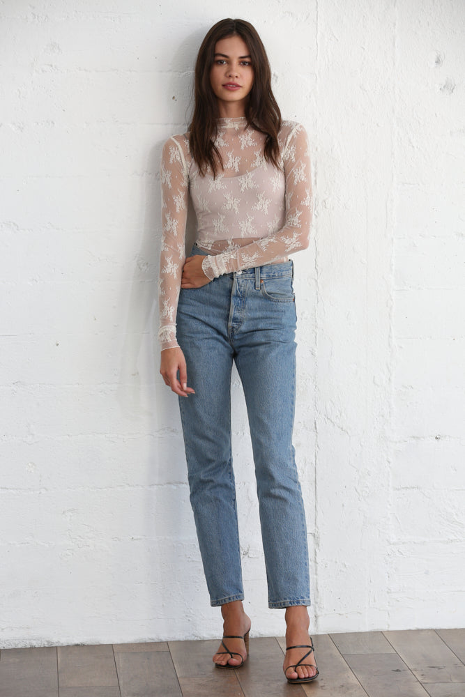 Sweet Mary Lace Top - Ivory