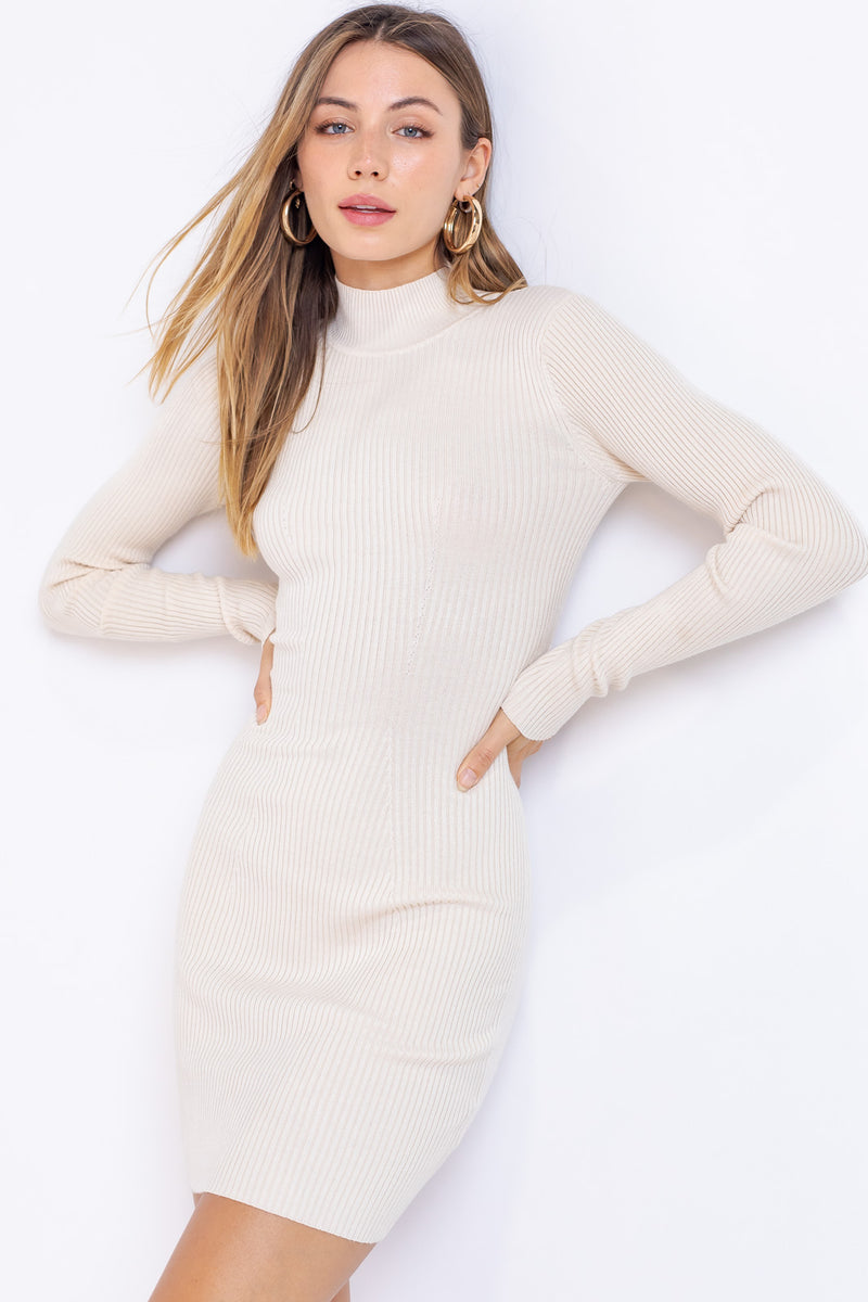 Reid Ribbed Cut Out Sweater Dress