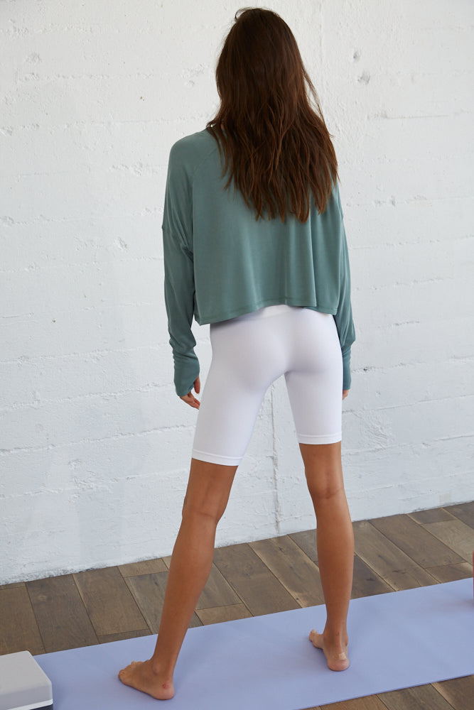 Ellie Relaxed Ribbed Top - Sage