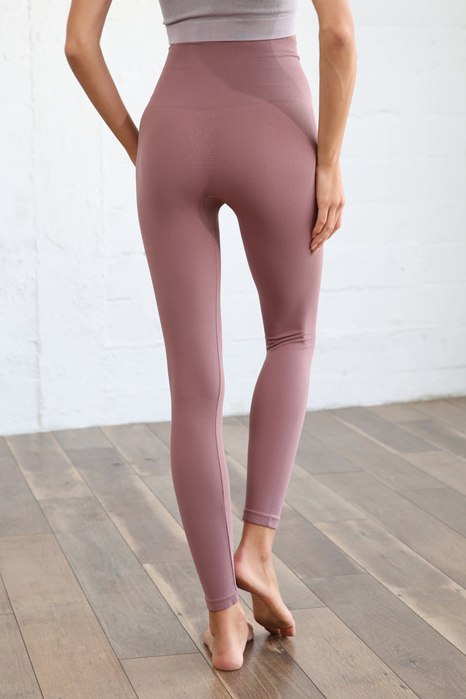 Work It Out Seamless Leggings - Vintage Mauve