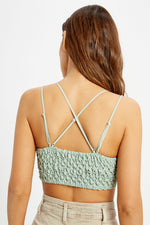Cassie Padded Lace Bralette -Sage