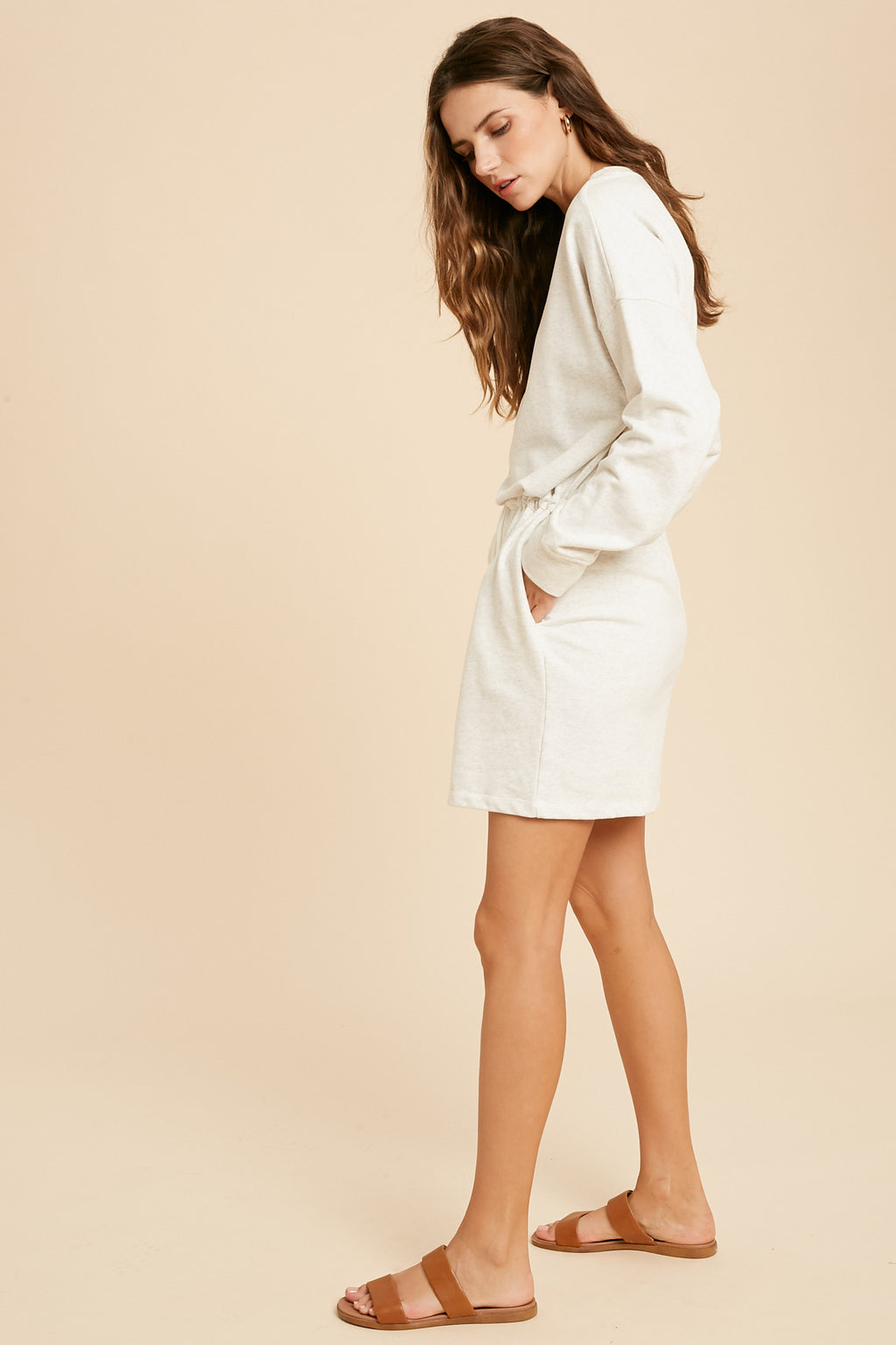 On The Go T-Shirt Dress - Marble
