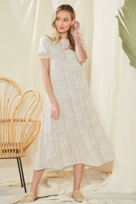 Loved By You Tiered Midi Dress