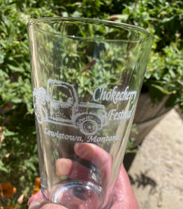 2020 Chokecherry Festival pint glasses
