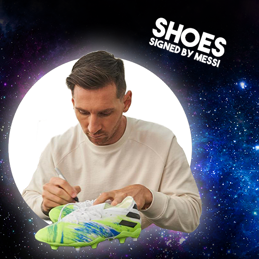 The winners of the signed Messi shoes are: Sandra Botrus from Norway!