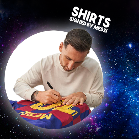 The first winner of the signed Messi Shirt is,  Sara Sanchez Sorrosal from Spain!