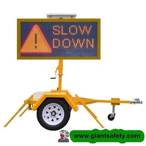 GIANT 605 LED Sign with Trailer Attachment