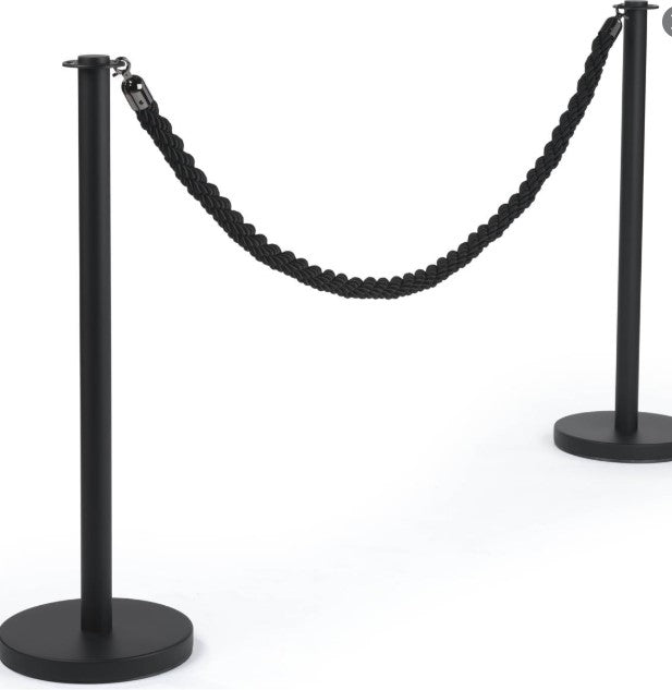 FLEX LINE 575 Black Queue Pole & Rope