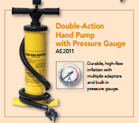Double Action Hand Pump with Pressure Gauge