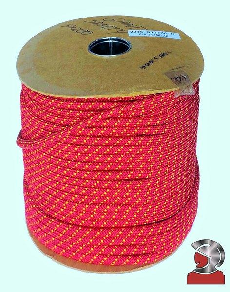 Red Polyamide  Safety Rope 10.5 Millimeters 100 Meters