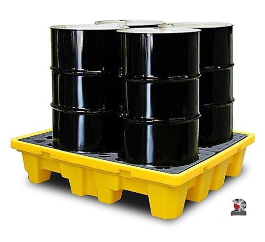 UNIPLAST 400 Spill Containment Pallet for 4 Barrels