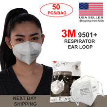 Load image into Gallery viewer, 3M 9501+ Respirator ear loop package of 50