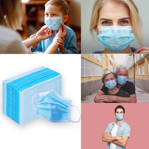 3 Ply Surgical Mask - ear loop package of 50