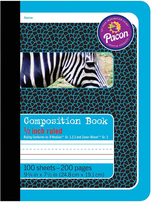 "1/2"" Ruled Composition Book"