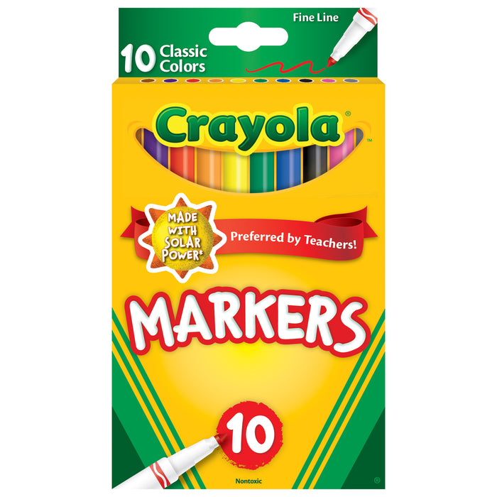 10ct Fine Line Colormax Markers Classic