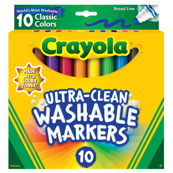 Crayola Ultra-Clean Washable Markers (10 colors)