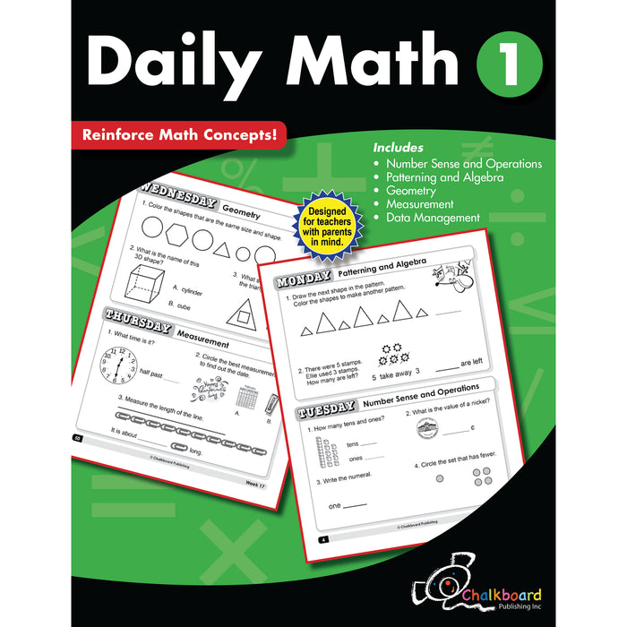 Gr1 Daily Math Workbook