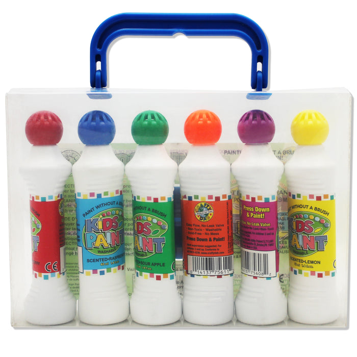 Crafty Dab Paint 6 Pk W-carrying Case