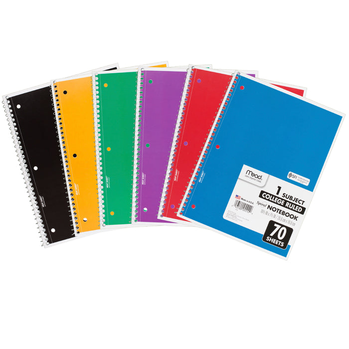 Spiral Notebook (70 sheets)