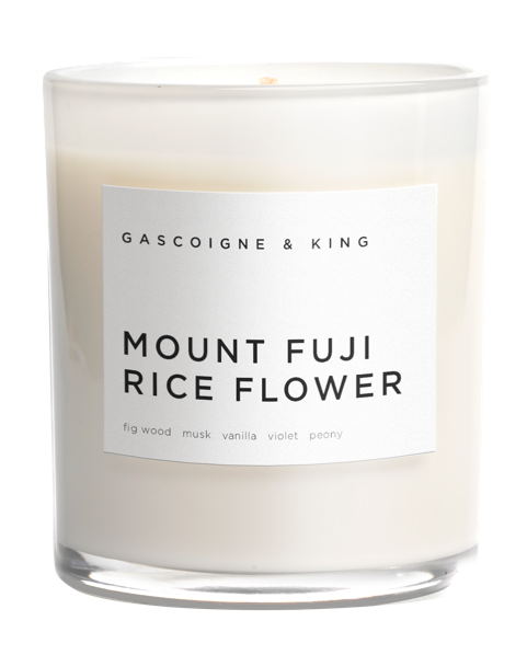 Mount Fuji Rice Flower Luxury Scented Candle