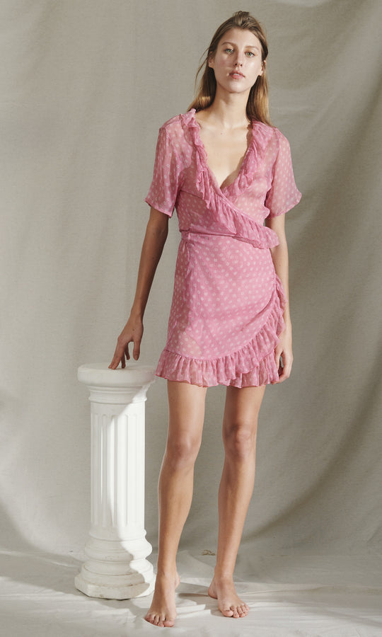 KIMI MINI DRESS  - DUSTY PINK
