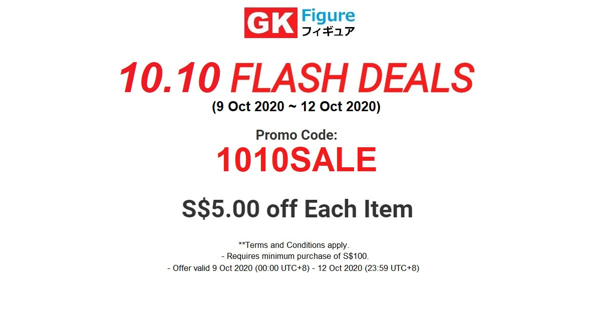 GK Figure - 10.10 Flash Deal - Anime Action Figure