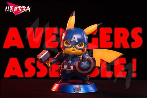 Pikachu cosplay Captain America [In-Stock] - GK Figure